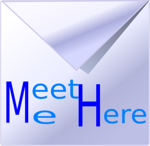 Meet Me Here Icon Clip Art