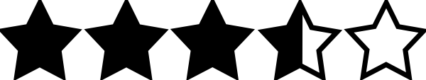 Image result for three and a half star rating