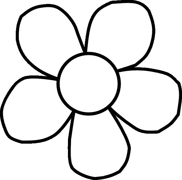 Black Flower 3 Clip Art At Clker Com: Bold White Flower Clip Art At Clker.com