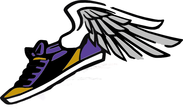 Running Shoe With Wings Cartoon