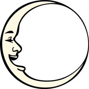 Moon With Face Clip Art
