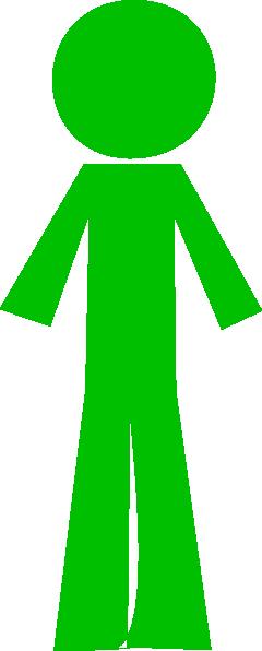 Person Stick Green Clip Art At Clker.com