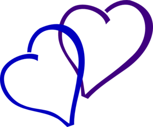 Blue And Purple Heart Clip Art
