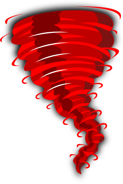 Red Tornado Clip Art at Clker.com - vector clip art online, royalty ...