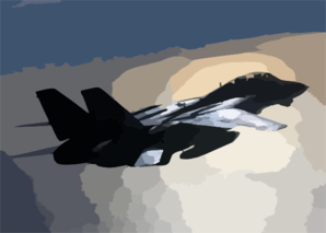 F-14 Assigned To Vf-103 Conducts Mission Over Mediterranean Sea. Clip Art