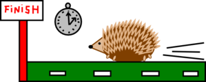 Hedgehog Race Clip Art