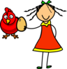Doll Fed Egg To Hen Clip Art