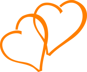 Orange Hearts Clip Art