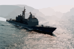 Cg 57 At Sea Clip Art