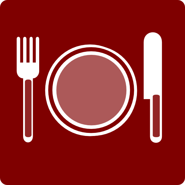 Hotel Icon Restaurant Clip Art - Red/white Clip Art at ...