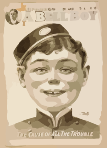 Will F. Phillips  Complicated Farcical Extravaganza, A Bell Boy Clip Art