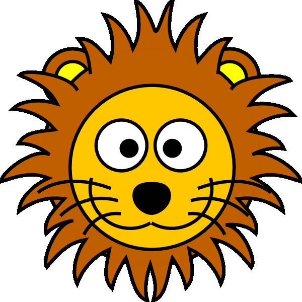 Lion cartoon head - photo#1