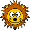 Cartoon Golden Lion 2 Clip Art
