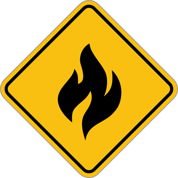 Fire Alert Sign Clip Art At Clker Vector Clip Art Online