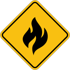 Fire Alert Sign Clip Art