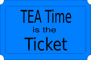 Tea Time Ticket Clip Art