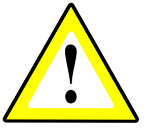 1 Significant Risk Yellow Clip Art