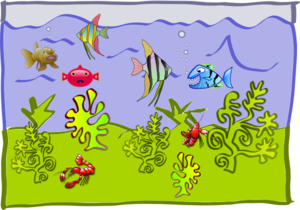 Underwater World - Aquarium Clip Art