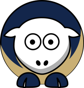 Sheep 3 Toned St Louis Rams Team Colors Clip Art