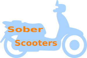 Sober Scooters Logo Clip Art