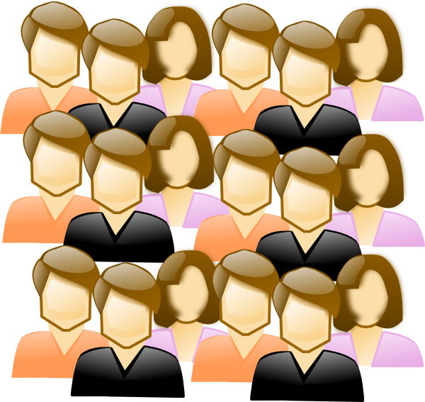 Crowd Of People Clip Art at Clker.com - vector clip art ...