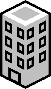 Office Building Gray Clip Art