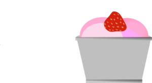 Strawberries And Ice Cream Clip Art