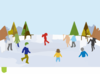 To The A Ice Rink Clip Art