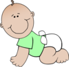 Neutral Baby Crawling Clip Art