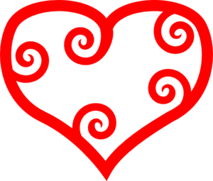 Curly Heart Clip Art
