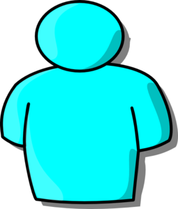 Light Blue Person Clip Art