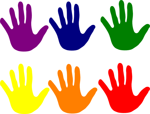 hands various colors clip art at clker com vector clip art rh clker com color clip art in powerpoint color clip art angels
