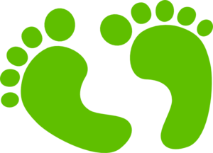 Baby Feet - Green Clip Art