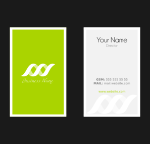 Business Card Template Clip Art