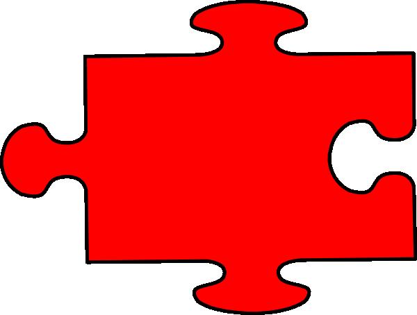 red puzzle clip art at clkercom vector clip art online