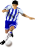 Soccer Player Running Clip Art