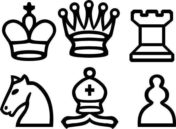 chess pieces clip art at clkercom vector clip art