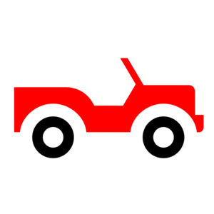 Red Jeep Clip Art