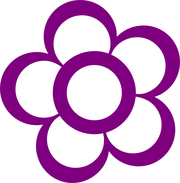 clip art flowers outline. Purple Flower Outline