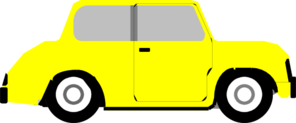 Bright Yellow Car Clip Art