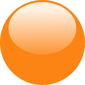 Bubble Orange Dark Clip Art