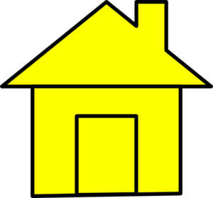 Yello Cute House Clip Art