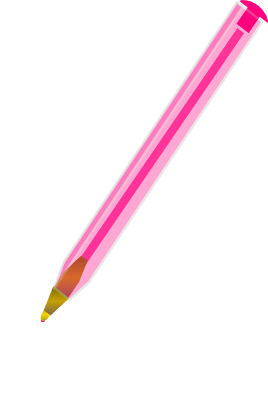 Pink Ballpoint Pen Clip Art At Clkercom Vector