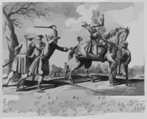 Rebell Gratitude, Or A Representation Of The Treachery And Barbarity Of Two Rebell Officers At The Battle Of Culloden...(which) Greatly Heightened The Slaughter That Was That Day Made Of Their Party...this Battle Was Fought 16 April 1746 Clip Art