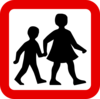 Children Crossing Clip Art
