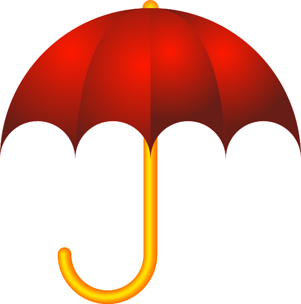 red umbrella clip art at clkercom vector clip art