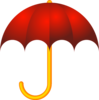 Red Umbrella Clip Art