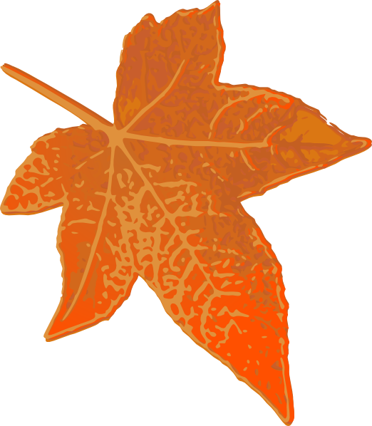 orange leaf clip art - photo #18