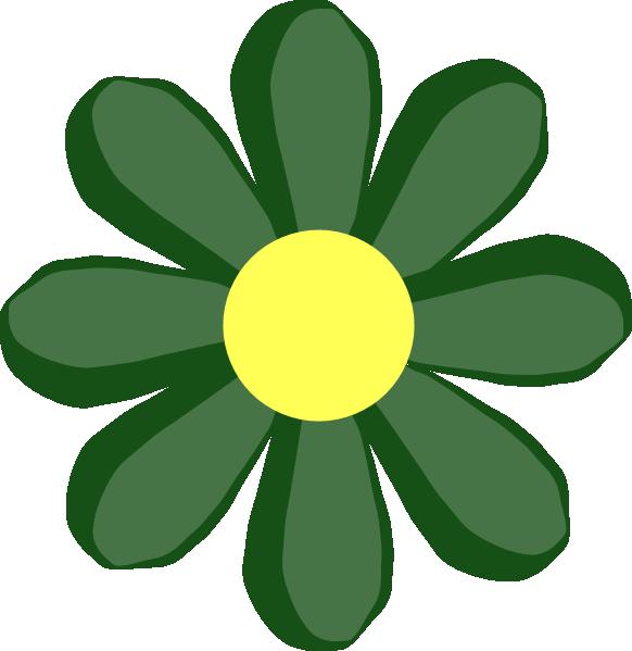 Green Spring Flower Clip Art at Clker.com - vector clip ...