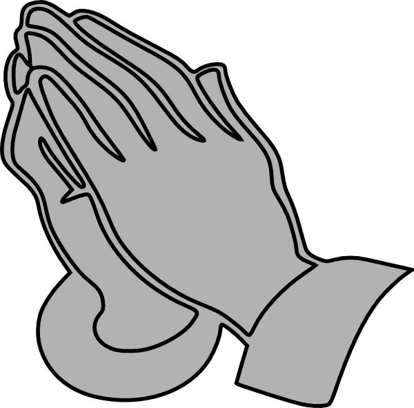 Gray Praying Hands Clip Art at Clker.com - vector clip art online ...